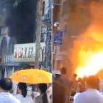 【動画】中国、珠海市の繁華街で商業ビルが火を噴く大爆発!その瞬間の映像