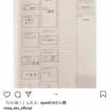 『【元乃木坂46】こんな感じなのか…衛藤美彩、直筆のスケジュール帳がこちら…』の画像