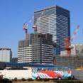 低層部の「ららぽーと豊洲3」は4月24日開業!高さ180m「豊洲ベイサイドクロス」の建設状況(2020.1.11)