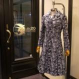『店頭用コートドレスが完成。』の画像