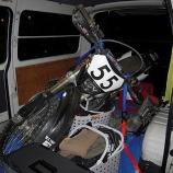 『100系ハイエース《バイク固定方法》』の画像
