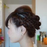 『髪セットしませんか??結婚式、二次会、パ-リ-などなど…』の画像