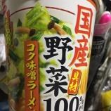 『【コンビニ:カップラーメン】サンヨー食品 国産野菜具材100% コク味噌ラーメン』の画像
