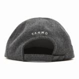 『【新入荷】YARMO MELTON LOGO CAP グレー』の画像