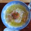 Ramen FeeL@日向和田 「わんたん入り 塩らぁ麺、わんたん入り 醤油らぁ麺、焼売飲茶セット、日替わりおにぎり」