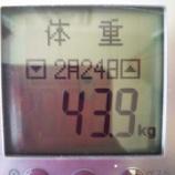 『祝☆43キロ台【43.9kg】&食べ放題【2948kcal】』の画像