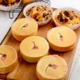 桜の押しあんぱん(イングリッシュマフィン型使用)&生食パンなど