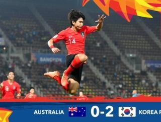 サッカー韓国代表、東京五輪出場決定!オーストラリアを2-0で下す