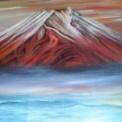 赤富士(油絵)