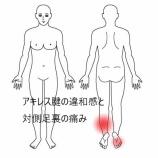 『≪マラソン好きな40代男性 アキレス腱の違和感と反対側の足裏の痛み≫』の画像