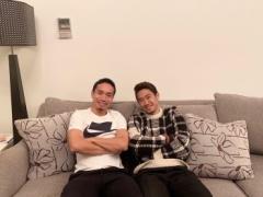 香川と長友が仲良く2ショットで写真撮ってるけど・・・