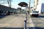 どなたか、お忘れですよ!JR河内磐船駅前北側ロータリーでうさちゃんクッション忘れてますよ!