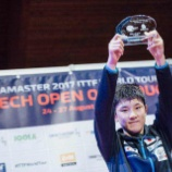 『ITTFワールドツアー・チェコオープン にて張本智和選手が史上最年少で優勝を果たしました。』の画像