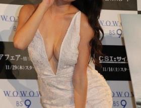 橋本マナミの胸元ぱっくりドレスがエロすぎワロタwwwwwwwwwwwwwww