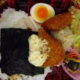 『タルタル白身魚フライ海苔弁当』の画像