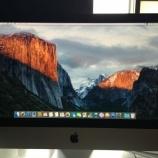 『iMacセットアップ完了』の画像