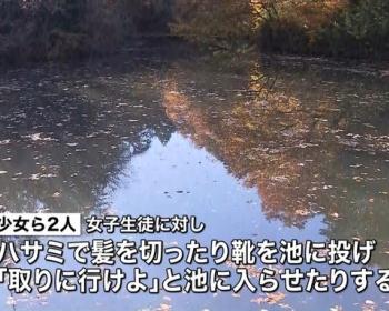 東京・町田で女子校生に集団暴行 ハサミで髪を切る、靴を池に投げ取りに行かせる等で高3女、高1男を逮捕「挨拶をせず礼儀がなかった」