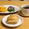 安納芋バターサンドで朝ごぱん