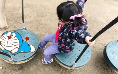 『今日は朝からお花見にお寺に行ったり公園に行ったりしました!』の画像