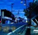 震災当日の姿を留める帰還困難区域、双葉町 月夜の街を歩くイノシシ