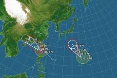 非常に強い台風20号が北上=7日に関東・東海の南へ―気象庁