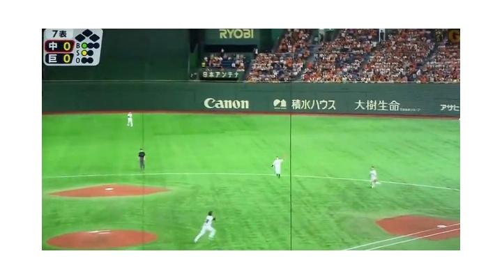 【 動画 】 昨日の試合で守備時に巨人・若林と山下が被りかけたシーン・・・