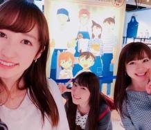 『山木梨沙さんがモーニング娘。'18の譜久村聖・石田亜佑美とコナンカフェ行ったぞwwwwww』の画像