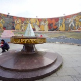 『ウランバートルを一望できるザイサン記念碑 と がっかりマーケット』の画像