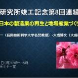 『大成研究所竣工記念第8回連続対談を終えて』の画像