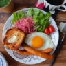 ミニ食パンで朝食プレート