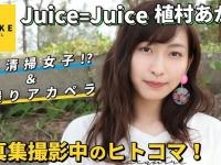 Juice=Juice植村あかり《オフショット》写真集撮影中のヒトコマ