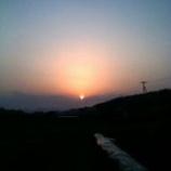 『春分の日の夕焼け』の画像