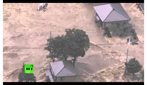 【海外の反応】鬼怒川が決壊「津波のような洪水」と報じられ世界から心配の声
