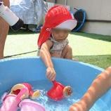 『今年初めての水遊び』の画像