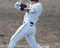 阪神井上「しっかり強い打球」2軍戦で復帰後初安打