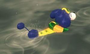 水遊びができるぽっちゃりポピー!。゚(゚´ω`゚)゚。ピー