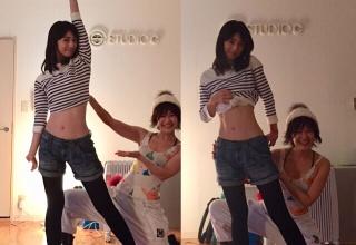 【芸能】小倉優子、くびれ際立つ美腹筋に驚きの声「2児の母とは思えない」