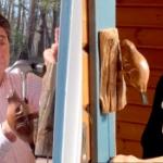 【動画】安倍首相がカナダ土産のドアノッカーを設置する動画が癒やされると海外で話題! [海外]