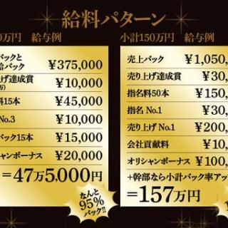 歌舞伎町ホストクラブ 1万~2万円の体験入店料がもらえる求人情報
