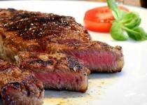 ステーキにかぶりつきたいんやが……