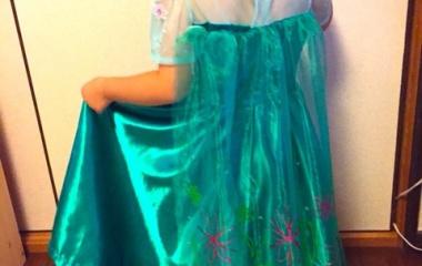 『エルサのサプライズドレス製作④』の画像
