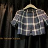 『ノーカラー半袖ジャケットを制作中。』の画像
