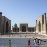 『ウズベキスタン旅行記46 世界遺産サマルカンドを象徴する場所「レギスタン広場」、ミナレットは上るべし!』の画像
