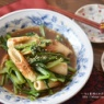 【レシピ・副菜・作り置き】小松菜と竹輪の中華風炒め