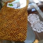 『手編みのネットバッグ』の画像