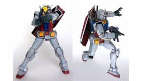 【創作】 このガンダムモデルがすげえ!!  アニメ調の塗装によって アニメのガンダムを完全再現したプラモデル。  海外の反応