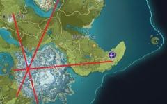 【原神】1.6で氷の無相が出現した場所は風、雷、岩の無相から線を引いたときに1点で交わる場所だったことが判明!