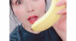 新田恵海さん、大きいバナナを見て恍惚