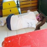 『[ノイミー] 尾木波菜「体育倉庫でお昼寝中のみりにゃさんが愛おしすぎて抱きつきたくなりました(ちゃんと我慢しました🥺笑)」【イコラブ】』の画像
