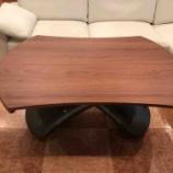 『おしゃれなイタリア製昇降テーブル・PARIS(パリ)リフトテーブル・ウォールナットが再入荷』の画像